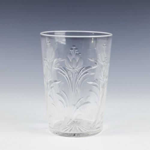 Rock Crystal Engraved Whisky Tumbler c1900