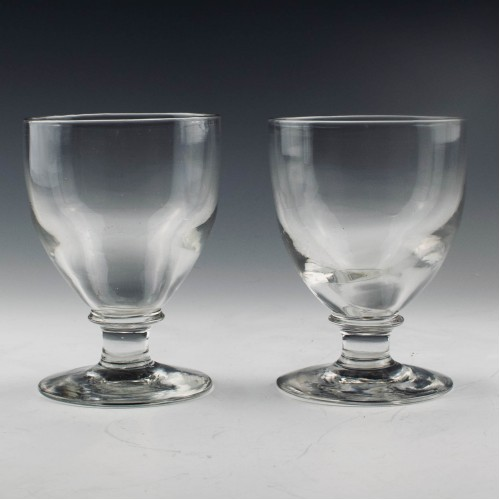 Pair of Late Victorian Glass Rummers c1900