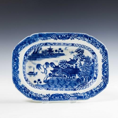 Beth Caughley Willow Nankin Pattern Dish c1780