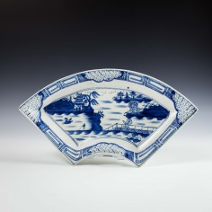 Caughley Weir Pattern Dish c1790