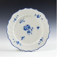 Caughley Gilliflower Pattern Plate c1780