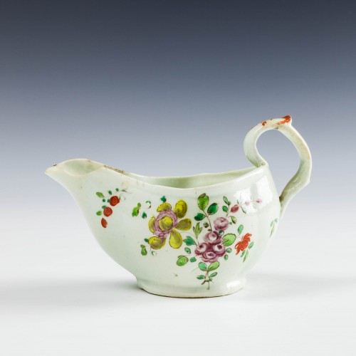 John Pennington Liverpool Porcelain Small Sauce Boat c1775