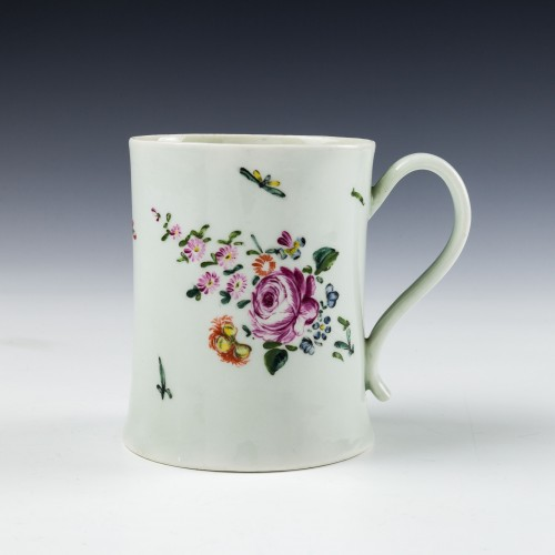 A Richard Chaffers Liverpool Porcelain Mug c1760