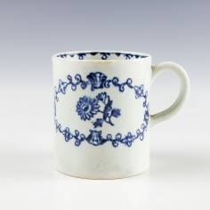 John Pennington Flower and Wreath Pattern Coffee Can c1775
