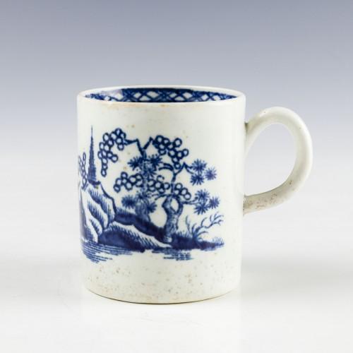 Rare Lowestoft Porcelain Two Pagoda Coffee Can c1775
