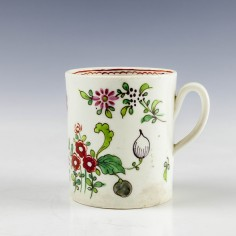 Liverpool John Pennington Floral Pattern Coffee Can c1775