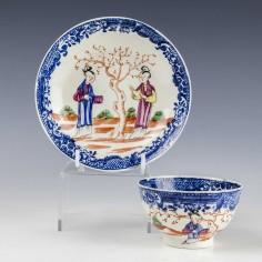 Liverpool Seth Pennington Mandarin Pattern Teabowl and Saucer c1785