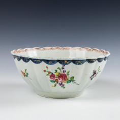 Liverpool Seth Pennington Floral Pattern Slop Bowl c1785