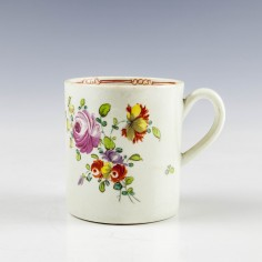 Liverpool Philip Christian Floral Pattern Coffee Can c1765