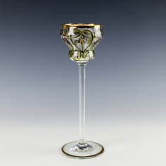 Meyr's Neffe Enameled Hock Wine Glass c1900
