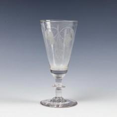 Engraved Georgian Ale Glass c1800