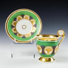 Paris Porcelain Cup and Saucer c1830