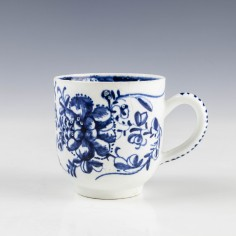 Bow Porcelain Mansfield Pattern Coffee Cup c1768
