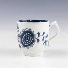 Lowestoft Sunflower Pattern Coffee Cup c1767