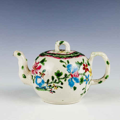 English Salt Glaze Teapot C1760