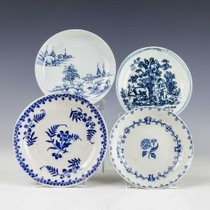 A Collection Of Liverpool Porcelain Saucers c1770