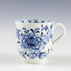Lowestoft Blue and White Coffee Cup c1787