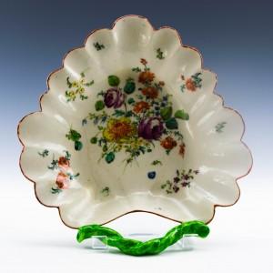 Longton Hall Porcelain Leaf Dish 1755-60