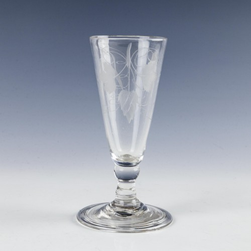 Engraved Georgian Ale Glass c1750