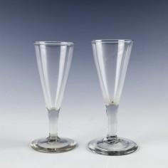 Two Georgian Ale Glasses c1780