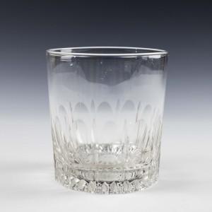 OXO Engraved Facet Cut Stem Port Glass c1780