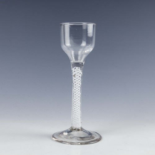 Opaque Twist Wine Glass c1760
