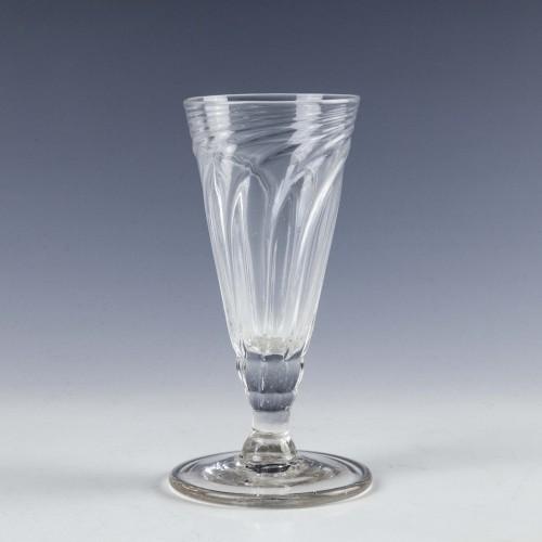 Tall Georgian  Somerset Wrythen Ale Glass c176