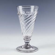Georgian Flamiform Ale Glass c1730