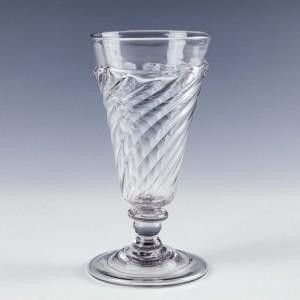 Georgian Flammiform Ale Glass c1730