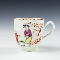 Worcester Porcelain Mandarin Pattern Coffee Cup c1775