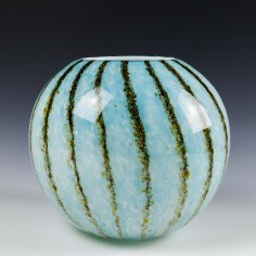 Cased Glass Oursins Vase c1940