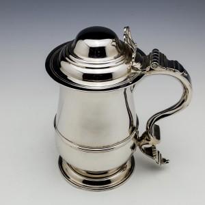 Sterling Silver Seven Gills Domed Tankard London 1787