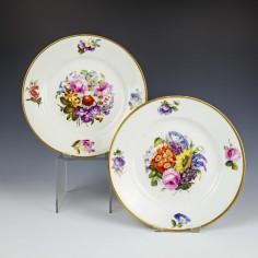 Derby Porcelain Floral Pattern Plates c1815