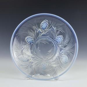 Jobling Opalique Fircone Pattern Glass Bowl c1935