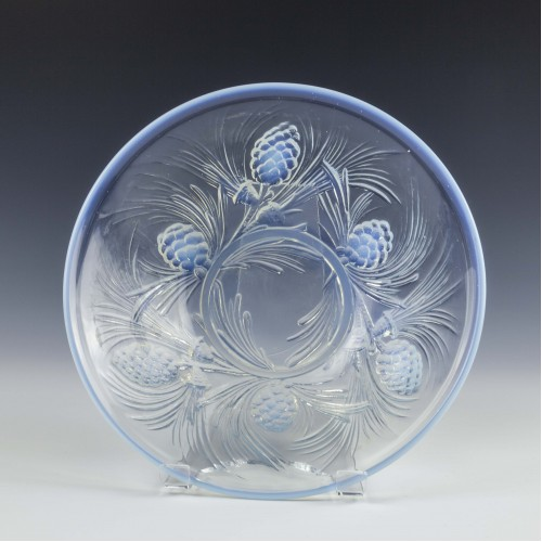 Jobling Opalique Fircone Pattern Glass Bowl c1935
