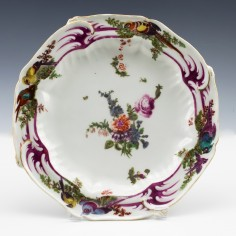 Chelsea Gold Anchor Period Plate c1760