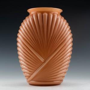 French Art Deco Apricot Vase c1935