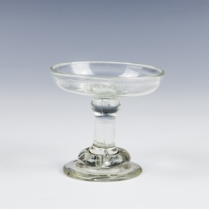 A Georgian Glass Patch Stand or Miniature Salver c1740