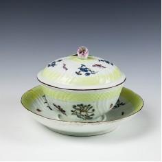 Rare Worcester Porcelain Broth Bowl 1760-65