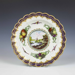 First Period Worcester Lord Henry Thynne Service Plate c1780