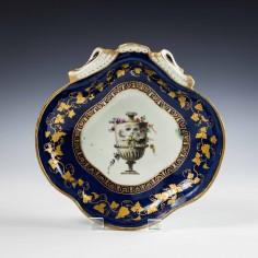 Giles Decortated Worcester Porcelain Dish c1770