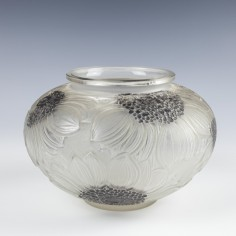 Rene Lalique Glass Dahlias Vase Designed 1923 Marcilhac 938