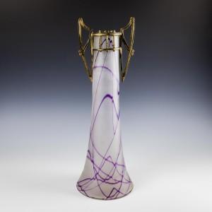 A Tall Continental Art Nouveau Vase c1910