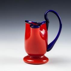 Red Tango Glass Posey Vase c1930