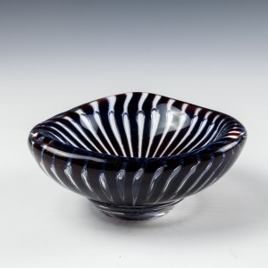 Signed Orrefors Ariel Trinket Dish by Edvin Ohrstrom c1950