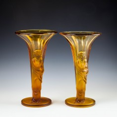 A Pair of Walther & Sohne Vases c1930