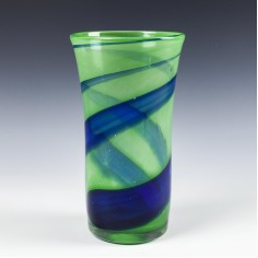 A Large Paul Miller Langham Glass Vortex Vase from c1980