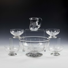 An Engraved Stuart Crystal Dessert Set by Ludwig KNY c1938