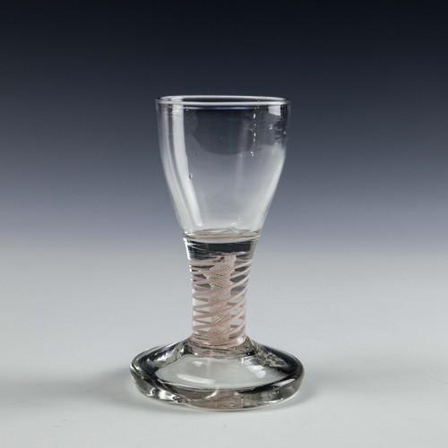 Opaque Twist Stem Firing Glass c1770