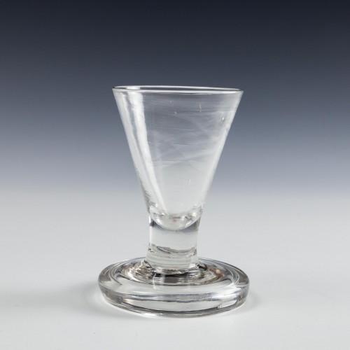 A Flanged Foot Firing Glass c1780